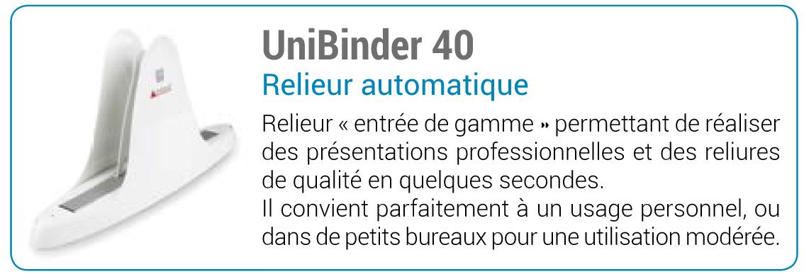 Ecart Relieur Unibinder 40