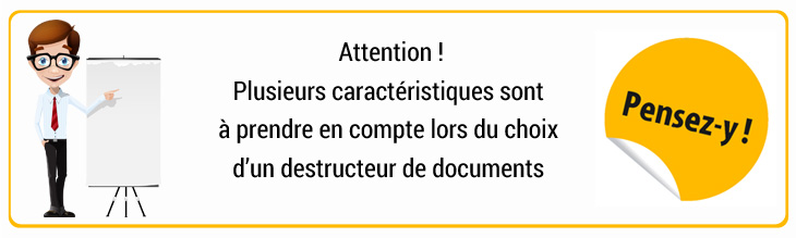 Encarts pensez-y destructeur de documents