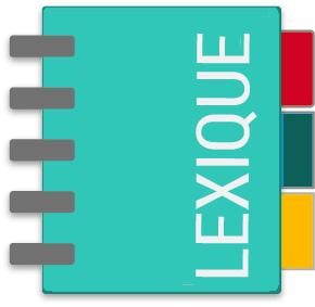 Image Flat design lexique