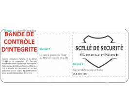 Scellés de Sécurité SecurNot pour reliure notariale