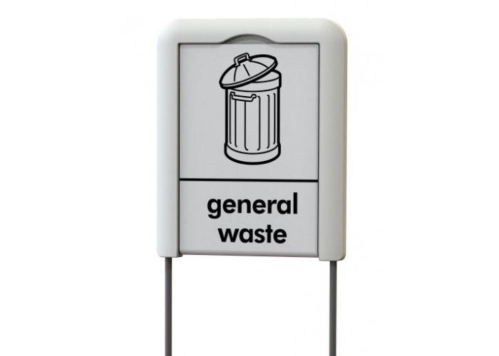 Plaquette pour poubelle tri sélectif TERAMIDI