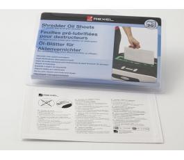 Papier pré-lubrifié spécial destructeur de documents