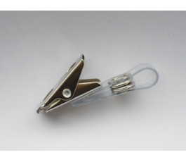 Clips pour badge - Attache plastique