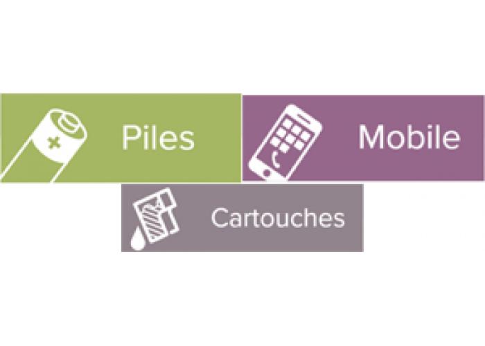 Pictogrammes adhésifs pour poubelle de tri sélectif