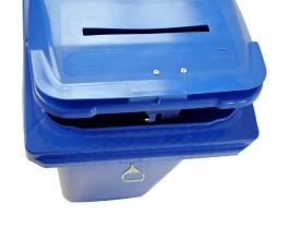 Collecteur papier confidentiel Teraconf avec fente et serrure 120L