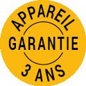 Certification garantie appareil 3 ans