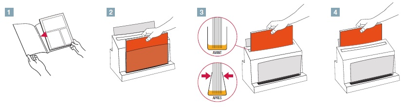 Schéma explicatif relieur et sertisseur Unibinder 8.1